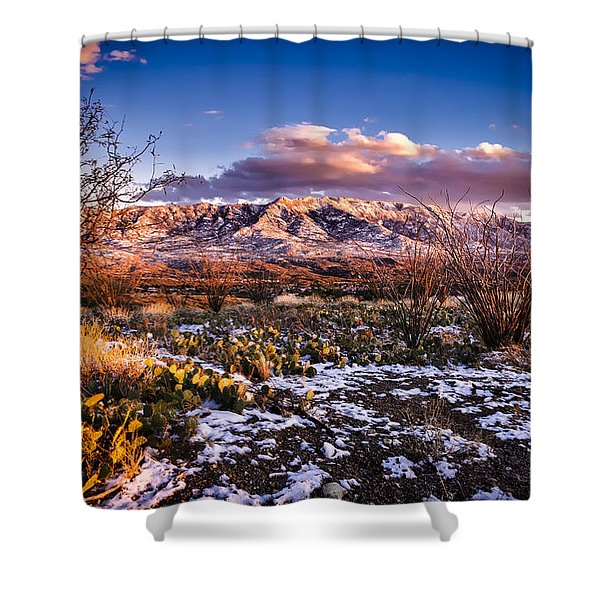 Colors Of Winter Shower Curtain