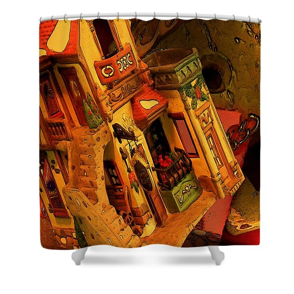 Shower Curtain featuring the digital art Colors by Tristan Armstrong