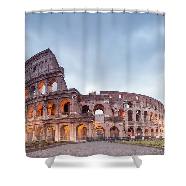 Colosseum At Sunrise Rome Italy Shower Curtain