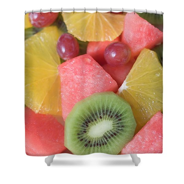 Colourful Fruit Salad (full-frame) Shower Curtain