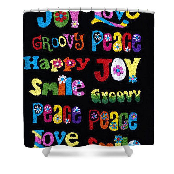 Colourful Words Shower Curtain