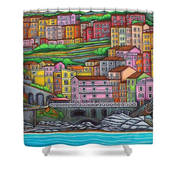 Colours Of Manarola Shower Curtain