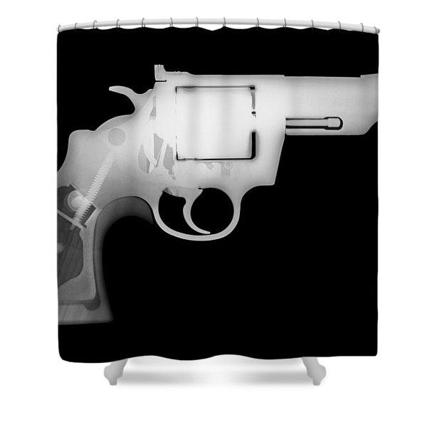 Colt 357 Magnum Reverse Shower Curtain