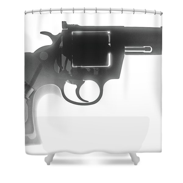 Colt 357 Magnum X Ray Photograph Shower Curtain