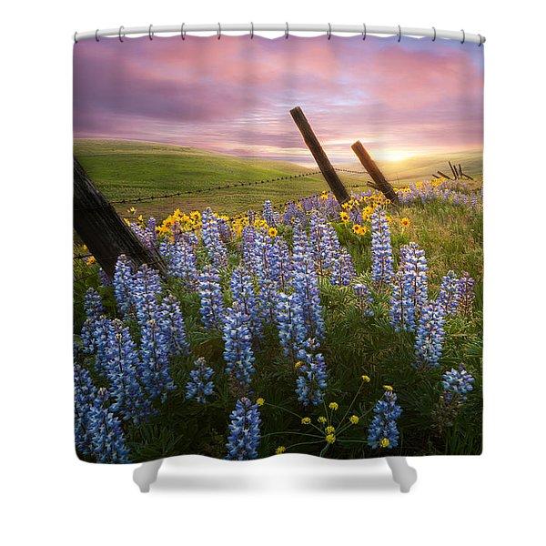 Columbia Hills Sunset Shower Curtain