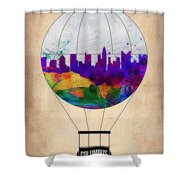Columbus Air Balloon Shower Curtain