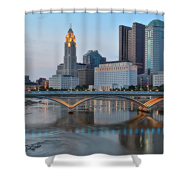 Columbus Ohio As The Lights Come On Shower Curtain