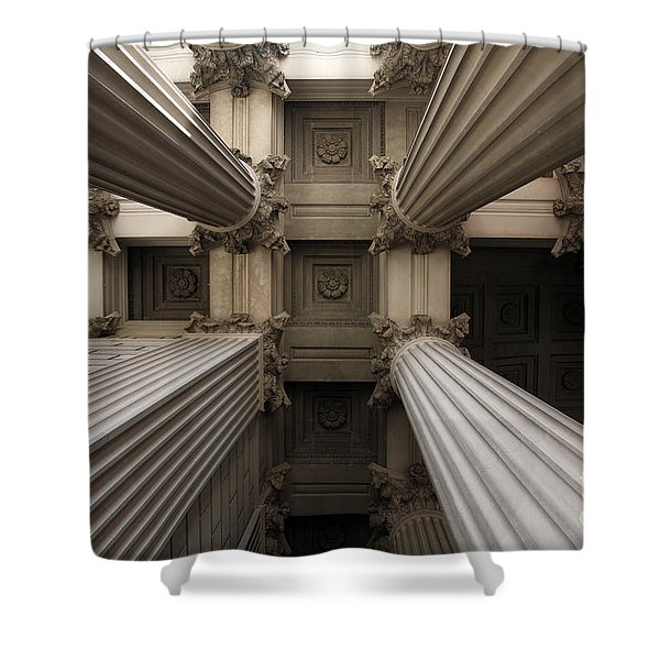 Columns At The National Archives In Washington Dc Shower Curtain