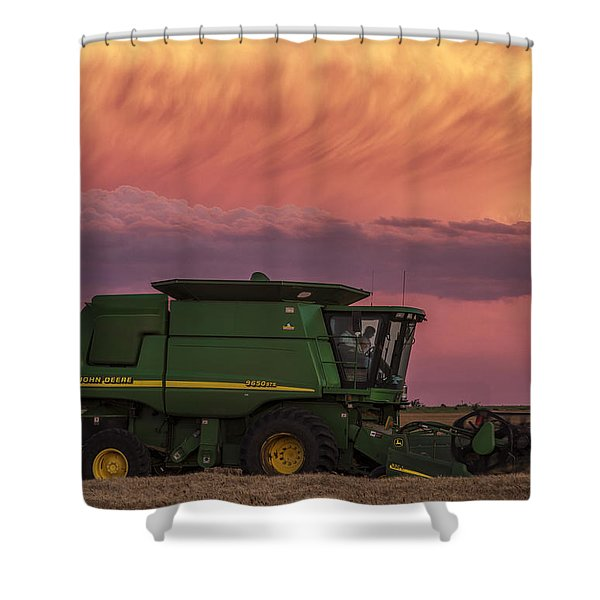 Combine At Sunset Shower Curtain