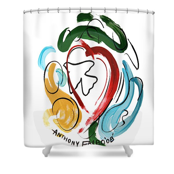 Shower Curtain featuring the painting Come Into My Heart by Anthony Falbo