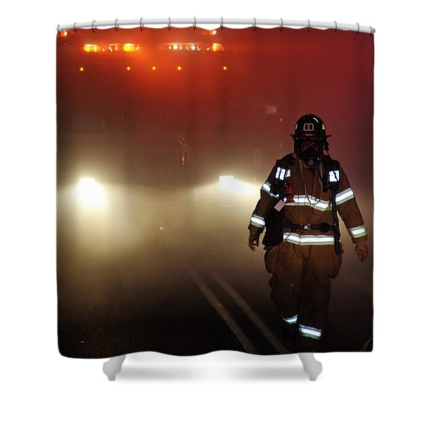 Shower Curtain featuring the photograph Coming Out by Leeon Photo