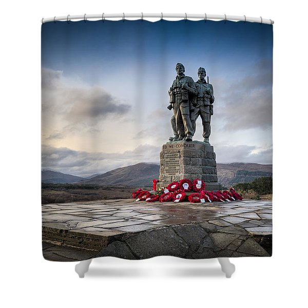 Commando Memorial At Spean Bridge Shower Curtain