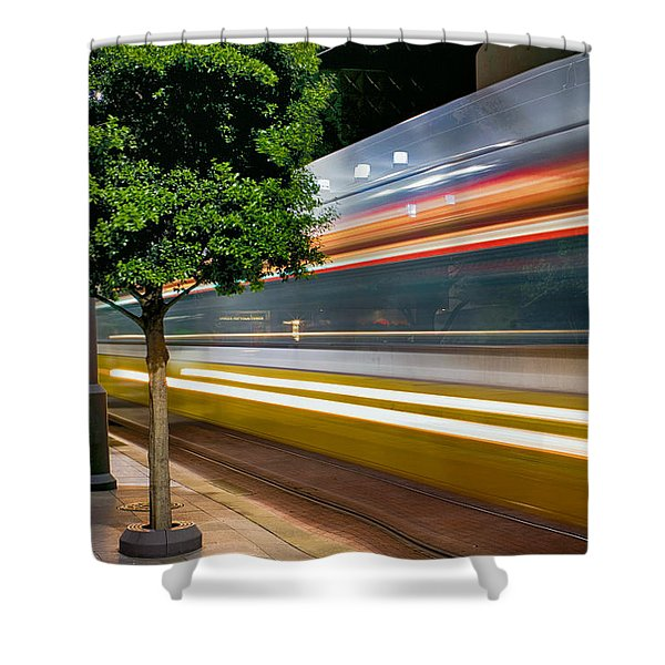 Dallas Commuter Train 052214 Shower Curtain