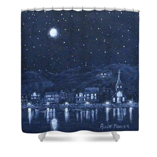 Competing Lights Shower Curtain