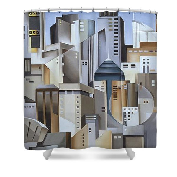 Composition Looking East Shower Curtain