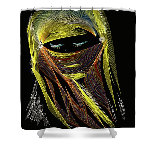 Computer Generated Image Of A Woman S Shower Curtain