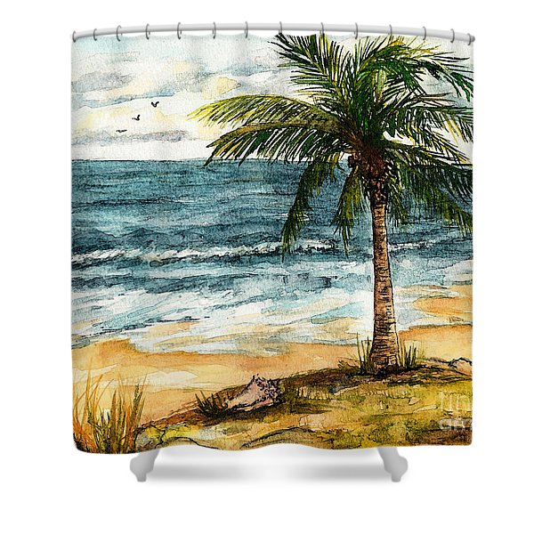 Conch Shell In The Shade Shower Curtain