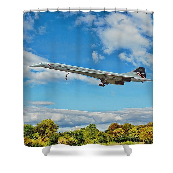 Concorde On Finals Shower Curtain