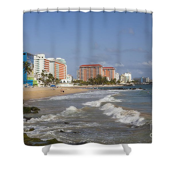 Shower Curtain featuring the photograph Condado Beach San Juan Puerto Rico by Bryan Mullennix