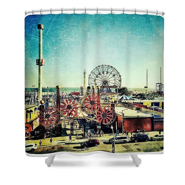 Coney Island Amusement Shower Curtain