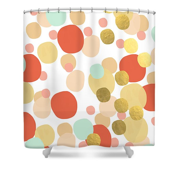 Confetti- Abstract Art Shower Curtain
