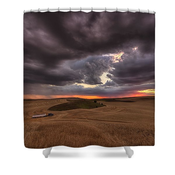 Confliction Shower Curtain