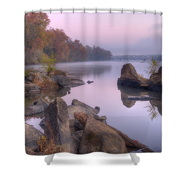 Congaree River At Dawn-1 Shower Curtain