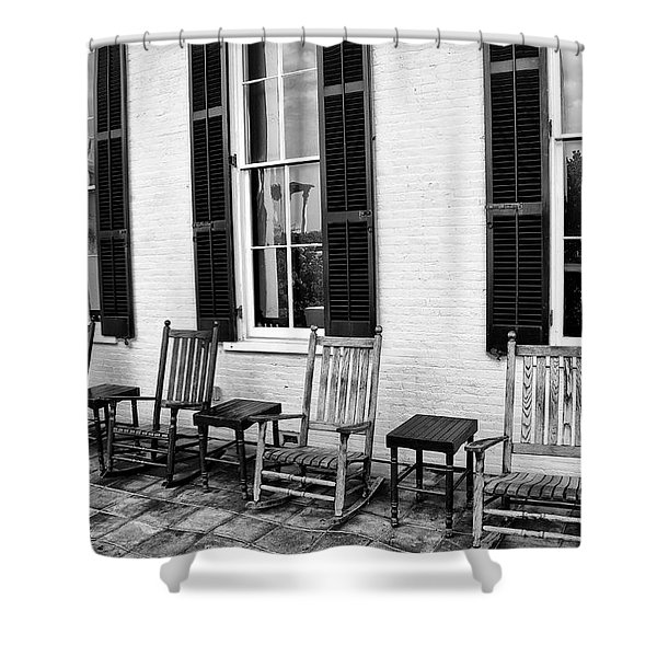 Congress Hall Rockers - Cape May Shower Curtain