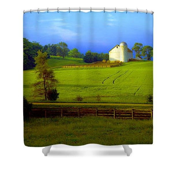 Conley Road Farm Spring Time Shower Curtain