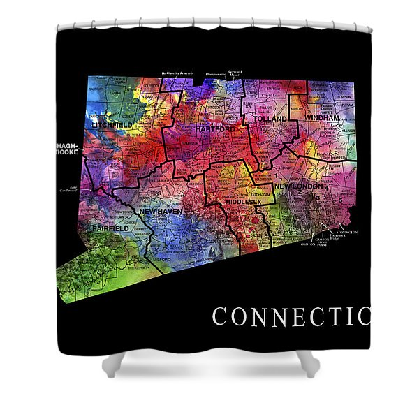 Connecticut State Shower Curtain