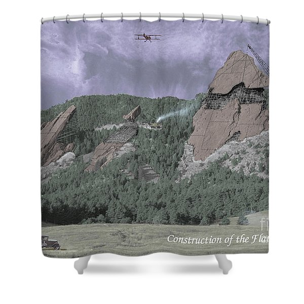 Construction Of The Flatirons - 1931 Shower Curtain