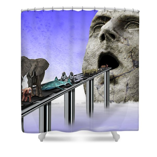Consumerism Shower Curtain