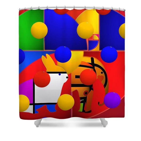 Contemporary Art Shower Curtain