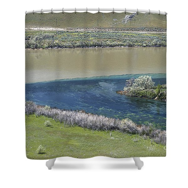 Converging Rivers In Idaho Shower Curtain