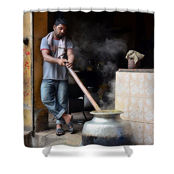 Cooking Breakfast Early Morning Lahore Pakistan Shower Curtain