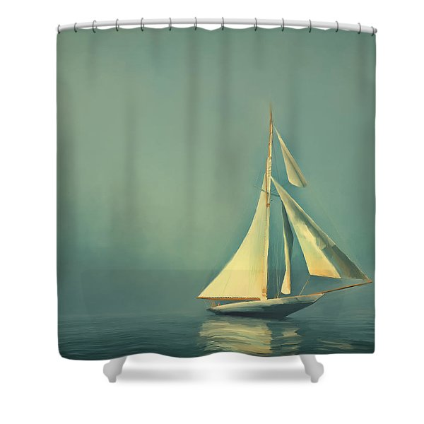 Cool Blue Sea Shower Curtain