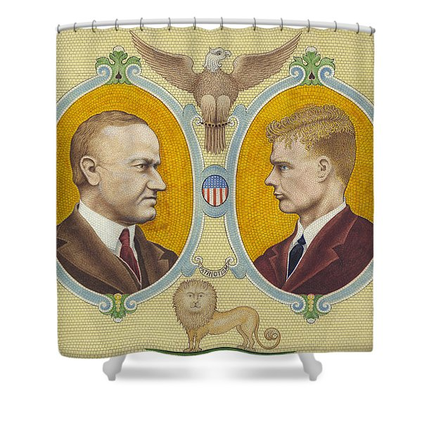 Coolidge And Lindbergh Shower Curtain