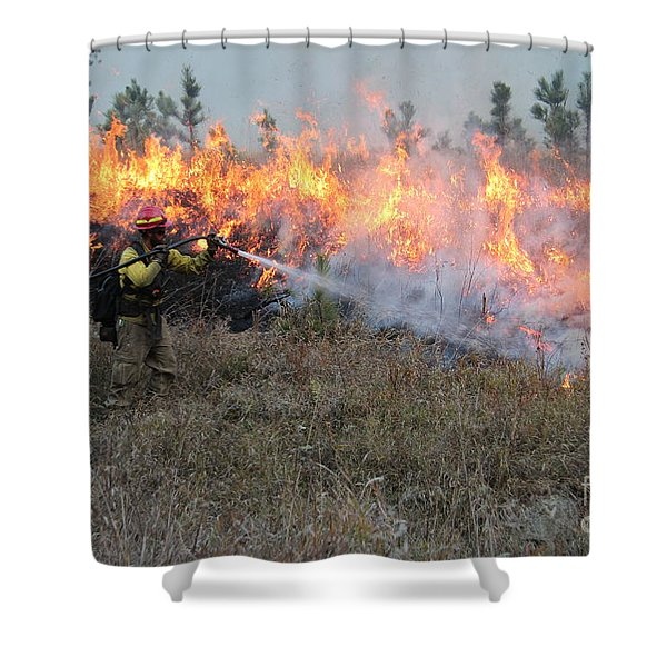 Cooling Down The Norbeck Prescribed Fire. Shower Curtain