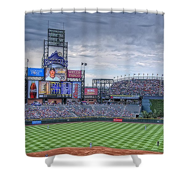 Coors Field Shower Curtain