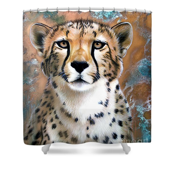 Copper Flash - Cheetah Shower Curtain