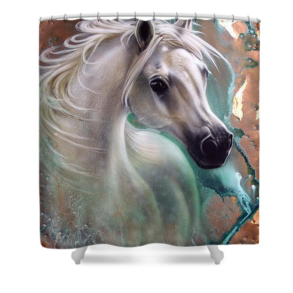 Copper Grace - Horse Shower Curtain