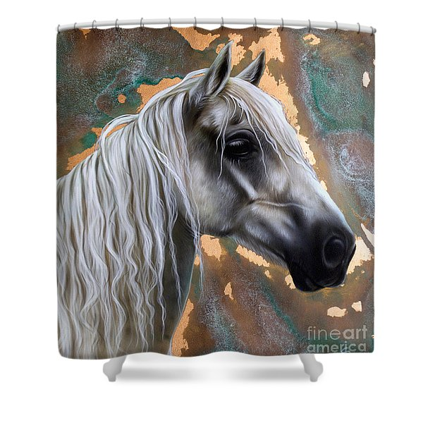 Copper Horse Shower Curtain