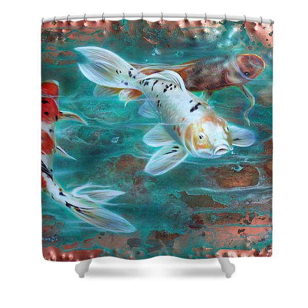 Copper Koi Shower Curtain