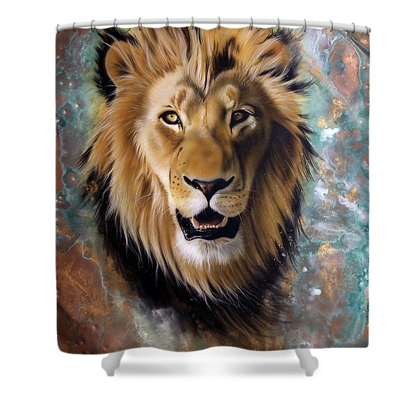 Copper Majesty - Lion Shower Curtain