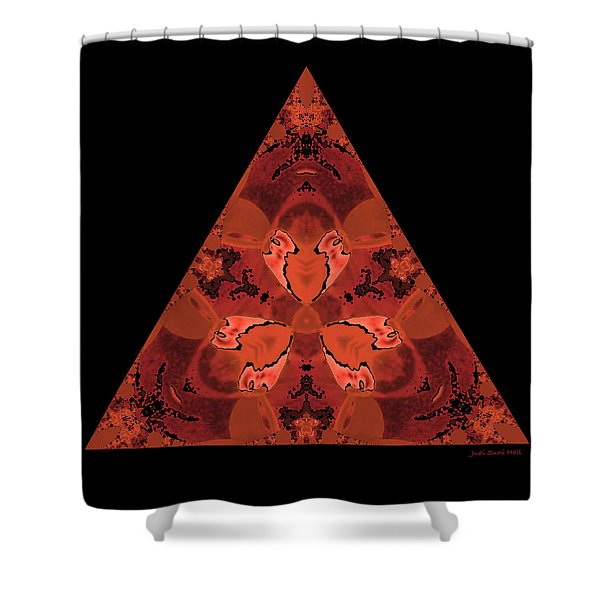 Copper Triangle Abstract Shower Curtain