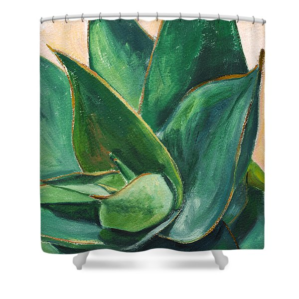Coral Aloe 3 Shower Curtain