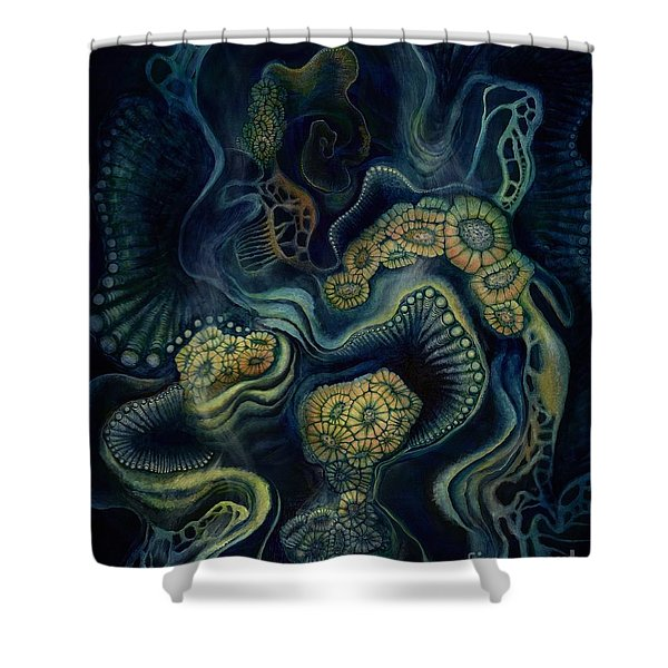 Coral Dive Shower Curtain
