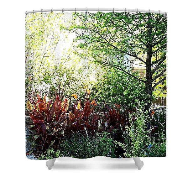 Corner Garden Shower Curtain