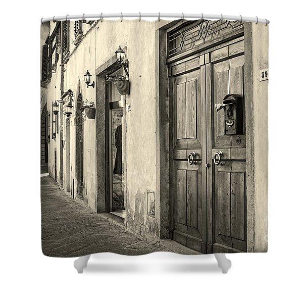 Corner Of Volterra Shower Curtain
