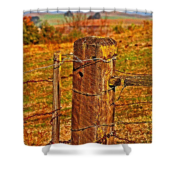 Corner Post At Gate Shower Curtain